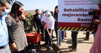 Rehabilita Tlalnepantla entorno y vialidades del Rastro Municipal