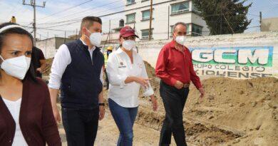 Consolidar obras para beneficio de la población es parte de la regeneración de Metepec