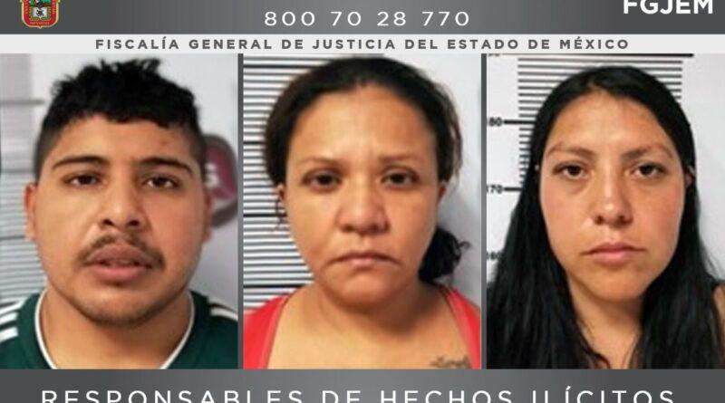 Sentencian a 87 años de cárcel a tres personas por el secuestro de un hombre en Zinacantepec
