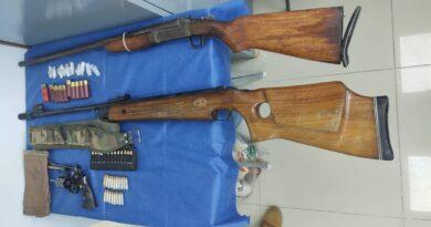 Encuentran droga, armas y cartuchos útiles en dos inmuebles ubicados ubicados en Polotitlán y Jilotepec